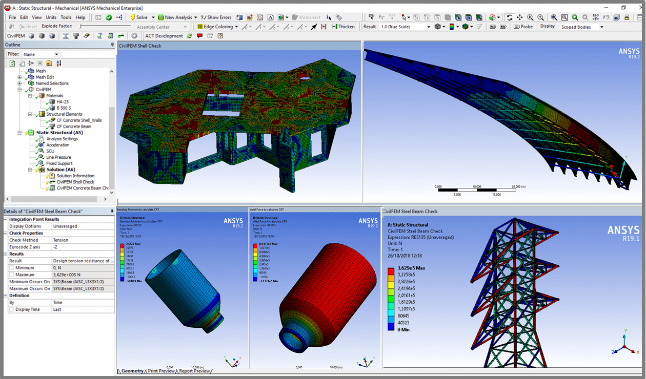 civilfem apps ansys